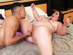Splendid fat ass on a BBW lady he fingers and fucks hardcore