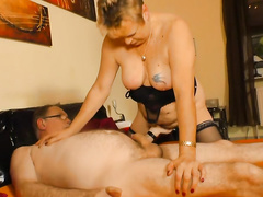 Mature German couple bangs for as long as they can in bed