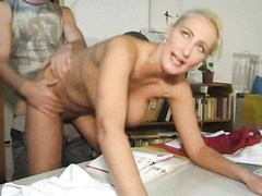Elegant cougar with spectacular tits fucked by a younger man