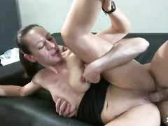 Hot french milf fucking her son's friend