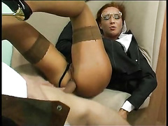 This milf secretary demands anal from her coworkers