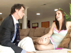 Gracie is a hot brunette who wants to fuck her new boss