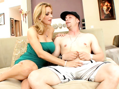 Blonde milf Tanya Tate is being fucked like a real pornstar pro