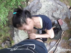 Naughty amateur whore likes to fuck outdoors