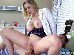 Big breasts of hot milf Julia Ann are satisfying her man in POV