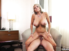 Blonde milf wife with a big boobs are ready for ass fucking