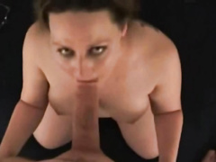 Fat girlfriend bobs up and down on a dick and gets a taste of semen