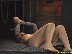 Hot tattooed girlfriend enjoys hard fucking