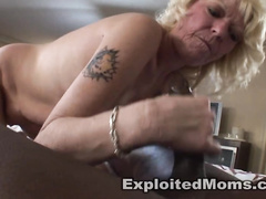 This old blonde slut never dreamed about black dick inside