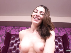 Sexy milf Angela sucks and fucks in this pov session