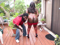Mizz Luvliblack has a real butt to be filled by big black dick