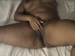 Milf getting her pussy wet by fingering her cunt