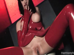 Red latency bitch sucking this big dick but she's super wet and can't wait to taste his spunk