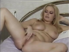Alicia Rhodes beautiful blonde woman loves to play with her hot pussy