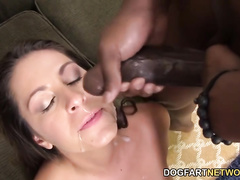 Delilah Davis is a beautiful slut who will have a great experience with two black men