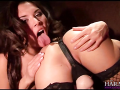 two horny lesbians stuffing sextoys