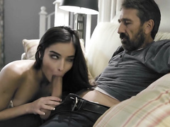Step dad using his daughter as s sex toy